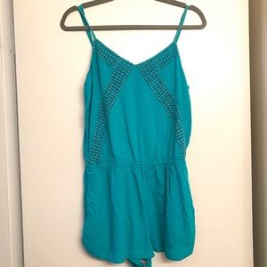 American Eagle Turquoise Mini Romper size Medium